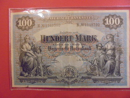 BAYERISCHE BANKNOTE 100 MARK 1 Januar 1900 (CIRCULER !) - [ 2] 1871-1918 : Empire Allemand