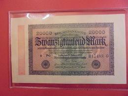 Reichsbanknote 20.000 MARK 1923 - [ 3] 1918-1933 : République De Weimar