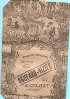 63 Puy De Dôme: CULHAT - Ogheard-Vizier Vieux Papiers- Publicités- Pochette Pour Café Réf 5616 - Publicités