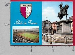 CARTOLINA VG ITALIA - Saluti Da TORINO - Stadio Comunale Piazza San Carlo - 10 X 15 - ANN. 1968 - Saluti Da.../ Gruss Aus...