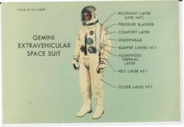 Postcard - The Night Sky - Gemini Extravehicular Space Suit - Unused New - Postcards