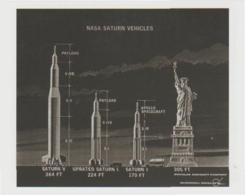 Postcard - The Night Sky - Nasa Saturn Vehicles - Unused New - Postcards