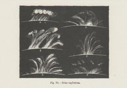 Postcard - The Night Sky - Solar Explosions 1875 - Unused New - Postcards