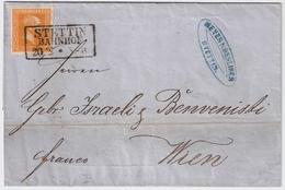 Nr. 12, Brief Stettin, Mi. 70.- +    , #a1720 - Preussen