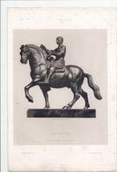 Eau-forte Par Gazette Des Beaux-Arts: Statue équestre De DONATELLO - Gravures