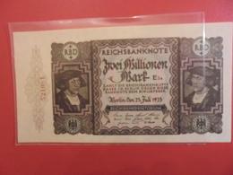 Reichsbanknote 2 MILLIONEN MARK 1923 - [ 3] 1918-1933 : République De Weimar
