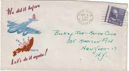 Enveloppe Illustrée De Propagande (Bombardement Du Japon) De LYNN.MASS. (5 MAY 1944) à NEW YORK - Etats-Unis