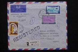 AFGHANISTAN - Enveloppe En Recommandé De Kaboul ( Ambassade De France ) Pour Paris En 1976 - L 21384 - Afghanistan