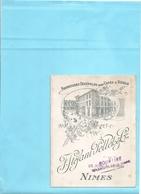 30 Gard : Nimes  F.Stéfani.Pelleto  Vieux Papiers- Publicités- Livret De Fournitures  Pour Café Et Hôtel Réf 5617 - Publicités