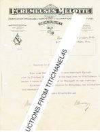 Lettre De 1935 REMICOURT - ECREMEUSES MELOTTE - Fabrication D'écrémeuses Et De Clarificateurs Centrifuges - Belgique