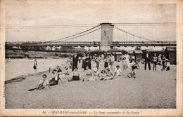 [45] Loiret > Chatillon Sur Loire Le Pont Suspendu Et La Plage - Chatillon Sur Loire