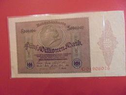 Reichsbanknote 5 MILLIONEN MARK 1923 - [ 3] 1918-1933 : République De Weimar