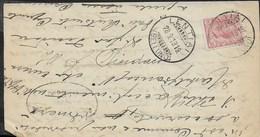 STORIA POSTALE REGNO - ANNULLO DCLR LENTIAI/(BELLUNO) 28.08.1919 SU PIEGO - 1900-44 Vittorio Emanuele III