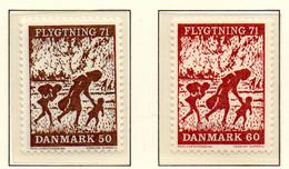 PIA - DANIMARCA -1971 : Aiuto Ai Rifugiati  - (Yv  515-16) - Denmark