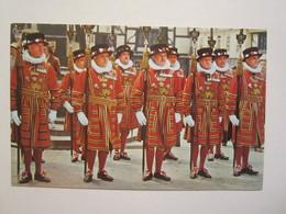 Angleterre Londres London Yeomen Warders At The Tower Of London - Tower Of London