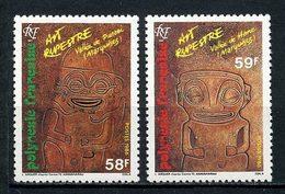 POLYNESIE 1986 N° 259/260 ** Neufs MNH Superbes C 3.20 € Art Rupestre Tikis Gravés Punaei Hane Vallées - Neufs
