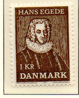 PIA - DANIMARCA -1971 : 250° Dell' Arrivo In Groenlandia Di Hans Egede  - (Yv 524) - Denmark