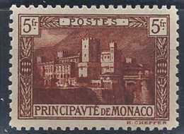 Monaco Variétés  N° 62 A 5f Brun Foncé Palais Princier Qualité: * Cote: 80 € - Monaco