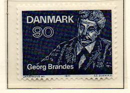 PIA - DANIMARCA -1971 : 100° Della Prima Conferenza Tenuta Dallo Scrittore Georg Brandes  - (Yv 529) - Denmark