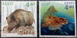 Estonia, 2002-2003, Mi. 446, 468, Sc. 446, 462, SG 431, 447, Animals, Boar, Seal, MNH - Stamps