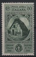 1932 Garibaldi 80 C. MLH - 1900-44 Victor Emmanuel III
