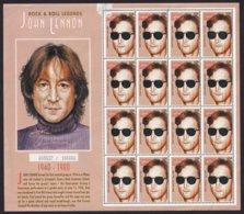 JOHN LENNON - ANTIGUA-BARBUDA - Feuillet De 16 Timbres - Singers