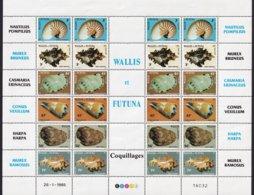 WALLIS ET FUTUNA - Feuillet De Coquillages - Coneshells