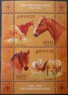 Estonia, 2006, Mi. 560-61 (bl. 27), Sc. 548, SG 526, Horses, The 150th Anniv. Of Tori Stud Farm, MNH - Horses