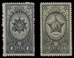 Russia / Sowjetunion 1943 - Mi-Nr. 872-873 ** - MNH - Orden / Order - 1923-1991 USSR