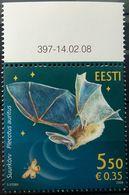 Estonia, 2008, Mi. 604, Sc. 588, SG 566, Bat, MNH - Bats