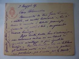 """Busta Viaggiata  """"Tenente Colonello Marchese Medici Di Marigliano Comando Artiglieria XXVIII Corpo D'Armata"""" 1919 - 1900-44 Vittorio Emanuele III"""
