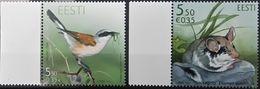Estonia, 2010, Mi. 666, 673, Sc. 645, 652, SG 620, 627, Animals, Bird, Shrike, MNH - Stamps
