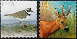 Estonia, 2012, Mi. 722, 731, Sc. 694, 701, SG 673, 680, Animals, Deer, Bird, MNH - Stamps