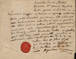 Actes De Mariage Derkenne-Halin, à Hermalle-sous-Argenteau, 1795 - Manuskripte