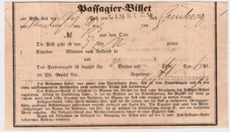 "1868  "" LIMBURG "" Stp. A. Reise - Schein, R!   , #a1728 - Tour Et Taxis"