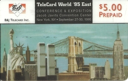 USA: B&J Telecard - TeleCard World '95 Exposition New York. Transparent - Vereinigte Staaten