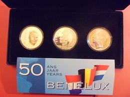 """BELGIQUE COFFRET BENELUX 1994 AVEC 3 MONNAIES ARGENT """"PROOF"""" - Belgium"""