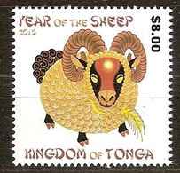 Tonga 2015 Yvertn° 1445 *** MNH Cote 17 Euro Faune Year Of The Sheep Chèvre - Tonga (1970-...)