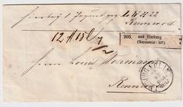 1861, Limburg, Mit Taxquadrat-Zettel   , #a 1728x - Tour Et Taxis