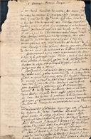 Testament De Jean Mambour, Curé De La Reid - Manuscripts