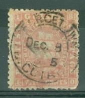 British Guiana: 1862/65   Ship   SG62   8c  Pink  [Perf: 12½-13]   Used - British Guiana (...-1966)