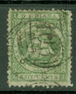 British Guiana: 1863/76   Ship   SG103   24c  Yellow Green  [Perf: 10]   Used - Guyane Britannique (...-1966)