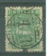 British Guiana: 1863/76   Ship   SG80   24c  Green  [Perf: 12½-13]   Used - British Guiana (...-1966)