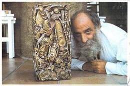 06 Alpes Maritimes SAINT PAUL DE VENCE  Le Sculpteur CESAR Avec Une De Ses Compressions (sculpture Métier)  *PRIX FIXE - Saint-Paul