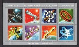 E056 YEMEN ARAB REPUBLIC SPACE 70 INTERPLANETARY STATIONS 1KB MNH - Space