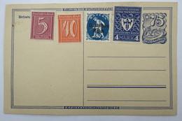 (10/8/21) Postkarte/AK/Ganzsache Mit Zusatzfrankatur Um 1920/25 - Stamps (pictures)