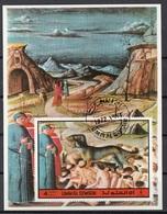Umm Al Qiwain 1972 Dante Alighieri Virgilio Divina Commedia Inferno Miniatura Illustrazione Fg. 3 Imperf. - Umm Al-Qiwain