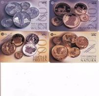 Afrique Du Sud,SOUTH AFRICA, Coins Set 2002 MTN, Krugerrand, Soccer Protea, Collectable Fair - Afrique Du Sud