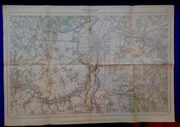 TONGEREN Meting 1872-1935 STAFKAART 34 MAASTRICHT VISE BILZEN HOESELT GLONS VLIJTINGEN MEERSSEN VALKENBURG GULPEN S373 - Tongeren