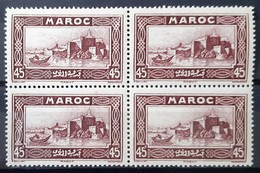 MAROC - N°138 - Neuf SANS Charnière ** / MNH - BLOC DE 4 - Maroc (1891-1956)